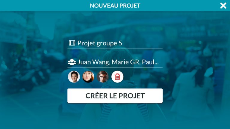 Create your project and invite your collaborators